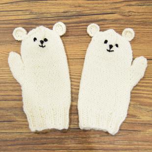 Mo101 17aw kids shirokuma mittens