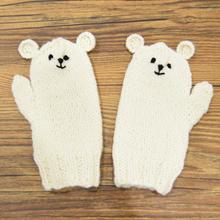 Thumb mo101 17aw kids shirokuma mittens