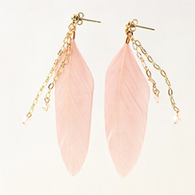 Thumb beads resip11velours feather pierce