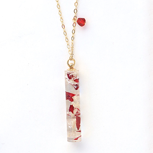 Beads rsp14resin herbarium necklace1