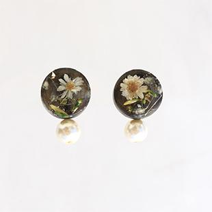 Beads rsp18resin flower pierce2
