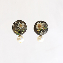 Thumb beads rsp18resin flower pierce2