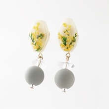 Thumb botanical mimosa earring