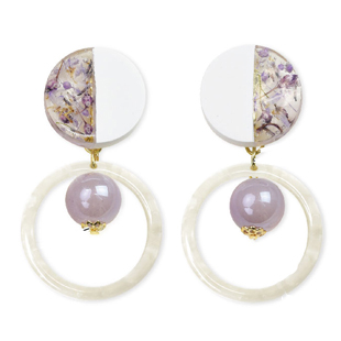 201907resin sekko earring purple