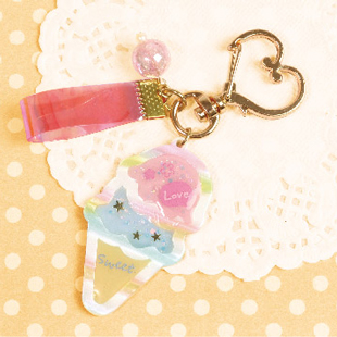 202007ice cream key ring