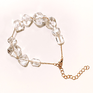 202103accessory clear beads cool bracelet