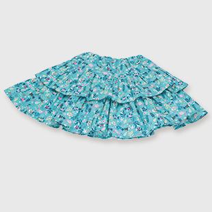 Kh55 2105kids frill tiered skirt