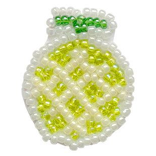 202109fruit embroidery brooch melon310