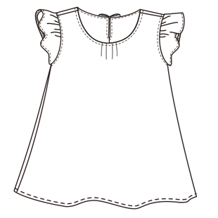 201606kids frilly blouse